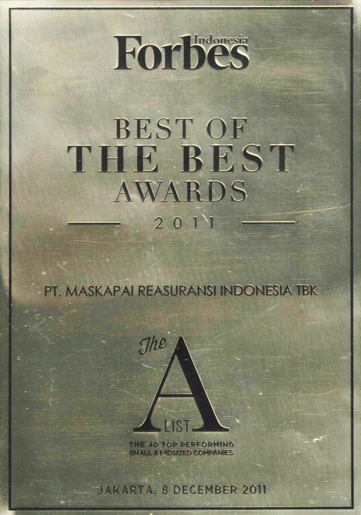 Majalah Forbes Indonesia : The A List The 40 Top Performing Small & Midsized Companies 2011