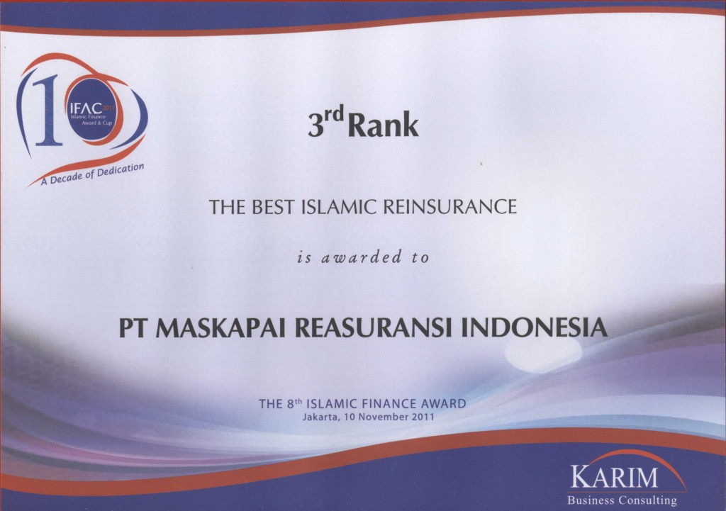Karim Consulting Indonesia : 3rd rank the Best Islamic Reinsurance Karim Konsulting 2011