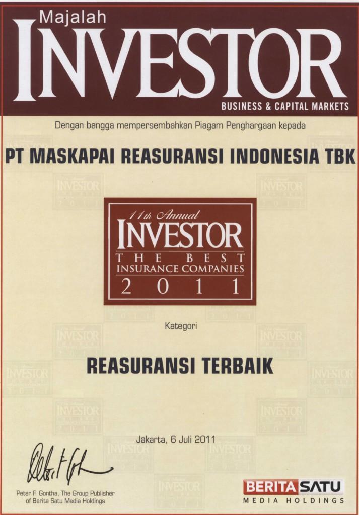 Majalah Investor : Reasuransi Terbaik 2011