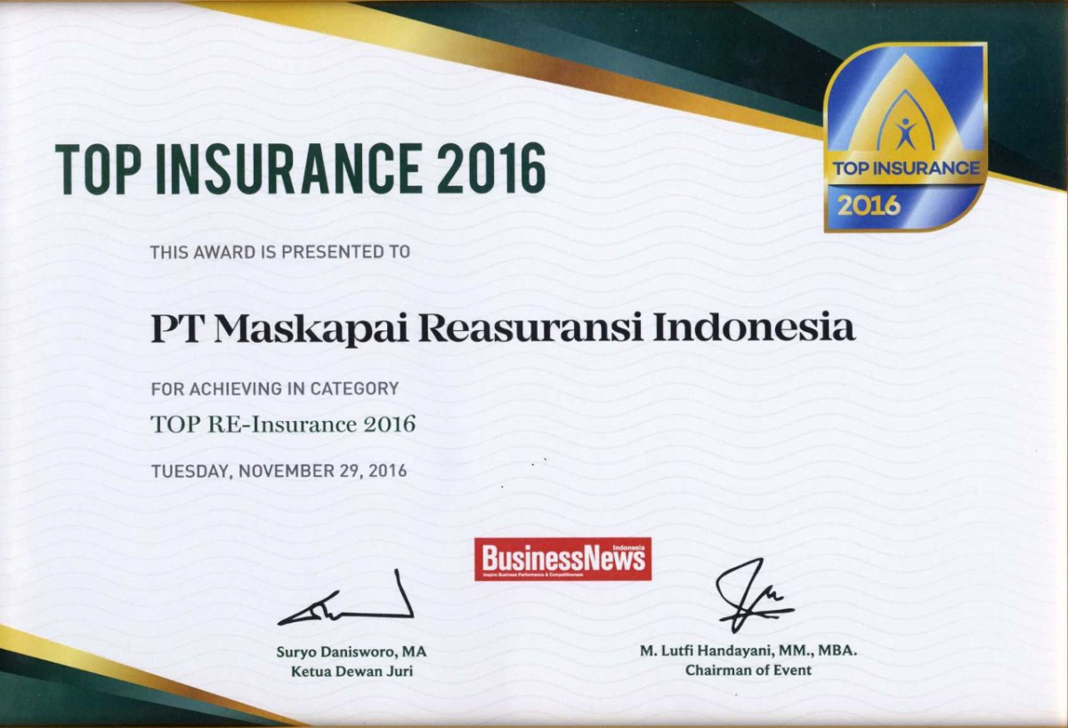 Majalah BusinessNews : Top Reinsurance 2016