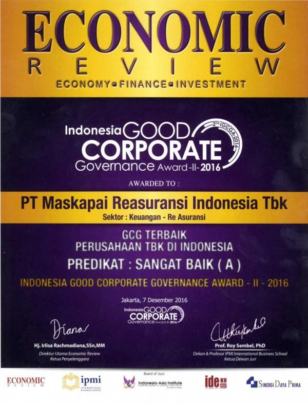 Majalah Economic Review : GCG Terbaik Perusahaan TBK Di Indonesia