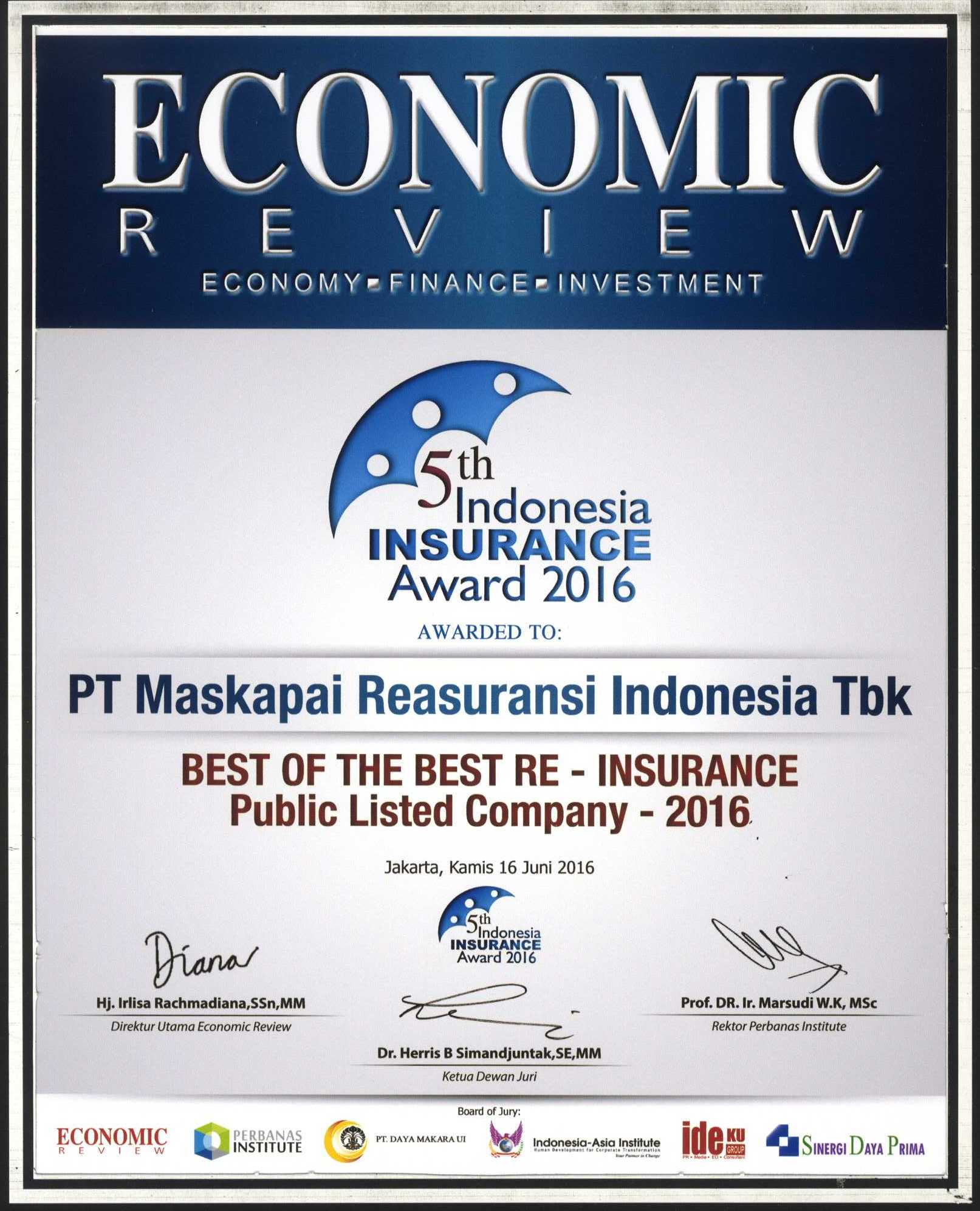 Majalah Economic Review : Top Public Listed Company 2016