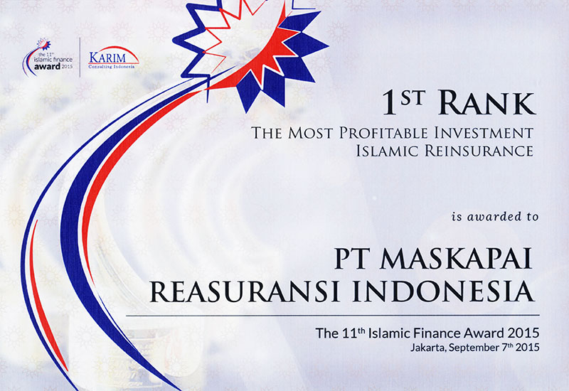 Karim Consulting Indonesia : 1st Rank The Most Profitable Investment Islamic Reinsurance 2015